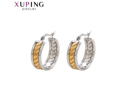 Серьги Xuping родиум и позолота 10001049