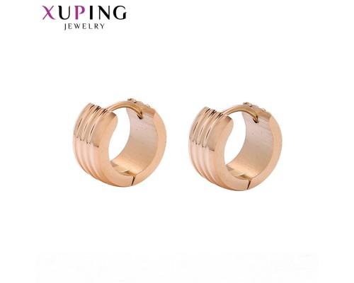 Симпатичные серьги, розовая позолота (10001360)