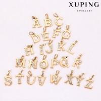 Подвеска  буква Xuping с белыми фианитами позолота 18К 10001489