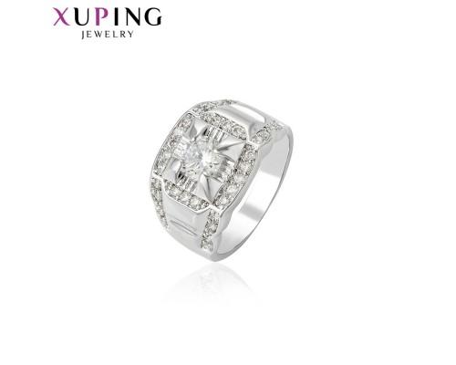 Кольцо Xuping с белыми фианитами родиум 10001763