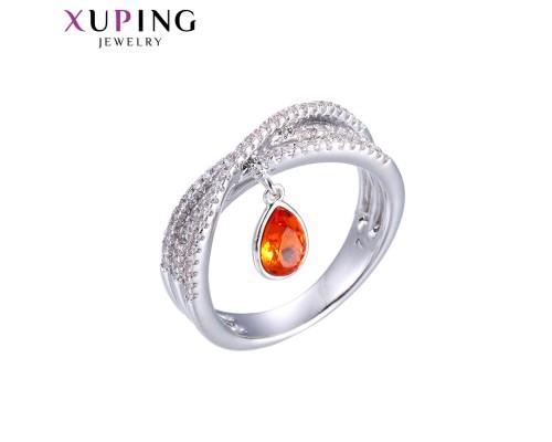 Дизайнерское кольцо с кристаллами Swarovski, родиум (10001806)