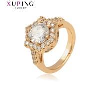 Кольцо Xuping с белыми фианитами позолота 18К 10001907