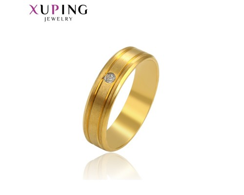 Кольцо Xuping с белым фианитом позолота 24К ST 10002492