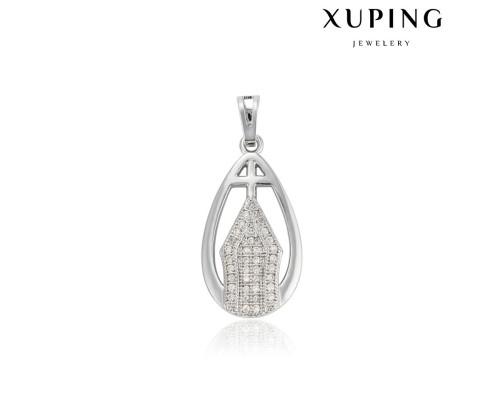 Ладанка Xuping с белыми фианитами родиум 10003293