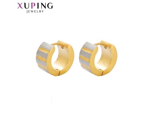 Серьги Xuping родиум и позолота 10004148