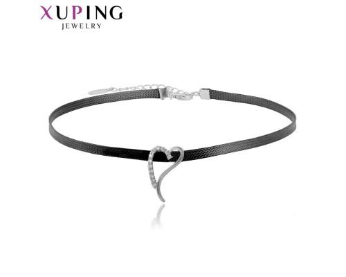 Чокер Xuping и подвеска с белыми фианитами родиум 10004673
