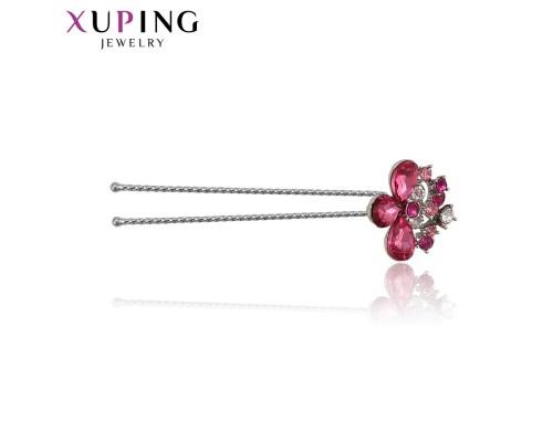 Шпилька Xuping с розовыми фианитами родиум 10004950