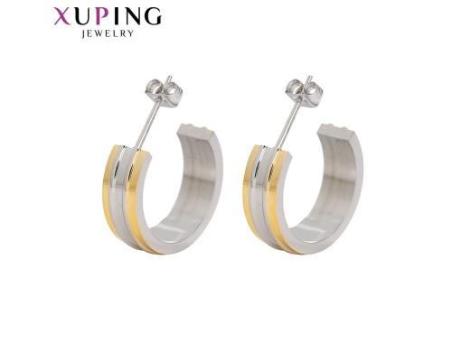Серьги Xuping родиум и позолота 10005671
