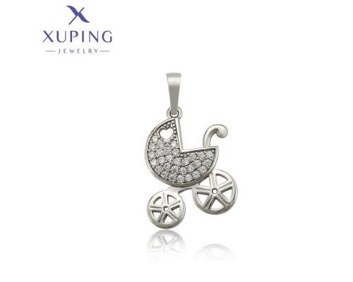 Подвеска Xuping с белыми фианитами родиум 10006370