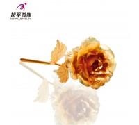 Дизайнерская подарочная роза, позолота 24К (10006475)