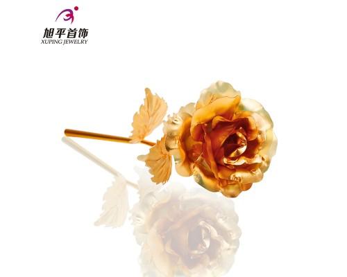 Дизайнерская подарочная роза позолота 24К 10006475