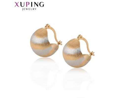 Серьги Xuping родиум и позолота 10006738