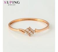 Браслет Xuping с белыми фианитами розовая позолота 10006889