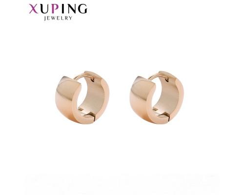 Милые серьги, розовая позолота (10006906)