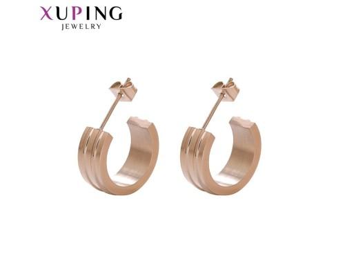 Серьги Xuping розовая позолота 10007184