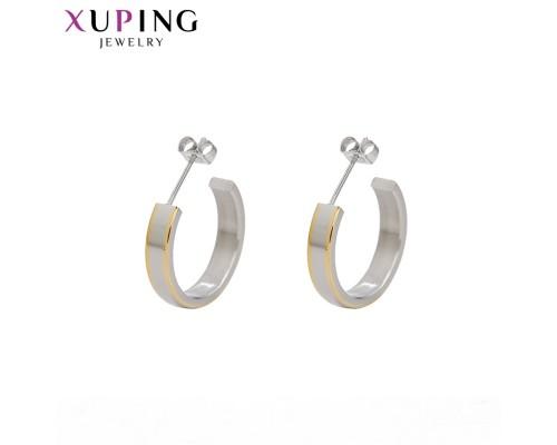Серьги Xuping родиум и позолота ST 10008097