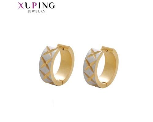 Серьги Xuping родиум и позолота ST 10008137