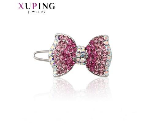 Заколка Xuping с розовыми фианитами родиум 10008281