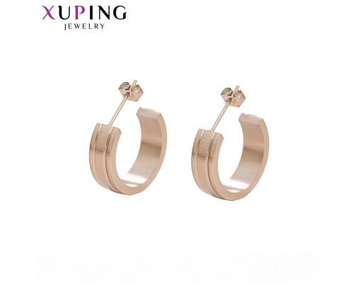Серьги Xuping розовая позолота 10008337