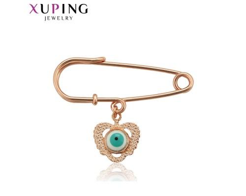 Брошь Xuping с подвеской розовая позолота 1116000