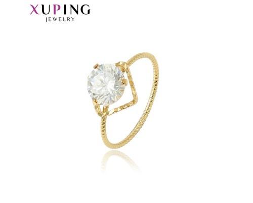 Кольцо Xuping с белым фианитом позолота 14К 1304000