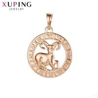 Подвеска Xuping Знак зодиака розовая позолота 2501000