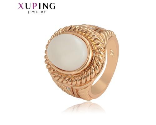 Кольцо Xuping с вставкой и белыми фианитами позолота 18К 3069000