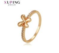 Симпатичное кольцо с фианитами, позолота 18К (3764000)