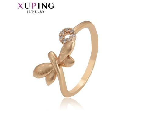 Кольцо Xuping с белыми фианитами позолота 18К 4378000