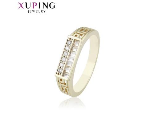 Отличное кольцо с фианитами, позолота 14К (4538000)