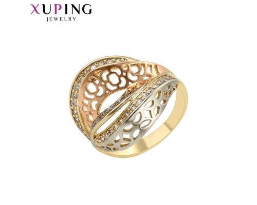 Прекрасное кольцо с фианитами, родиум и позолота (4555000)