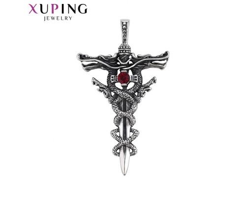 Подвеска Xuping с красным фианитом родиум 4986000