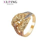 Модное кольцо с фианитами, родиум и позолота (5101000)