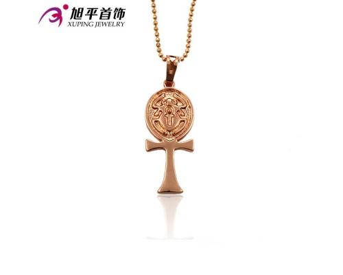 Замечательный крестик, розовая позолота (5306000)