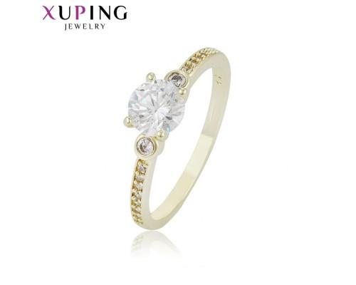 Отличное кольцо с фианитами, позолота 14К (5470000)