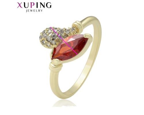 Отличное кольцо с фианитами, позолота 14К (6584000)