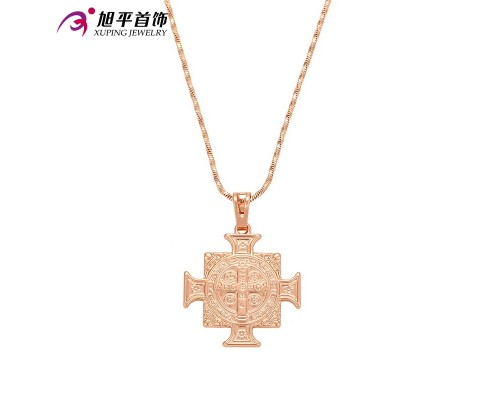 Модный крестик, розовая позолота (6619000)