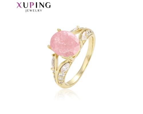 Замечательное кольцо с фианитами, позолота 14К (2174000)