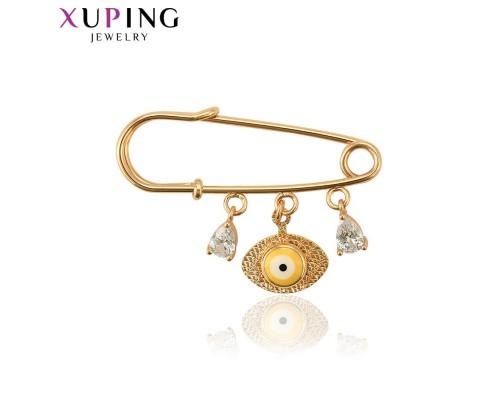 Брошь Xuping с эмалью и белыми фианитами позолота 18К 7685000