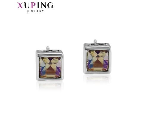 Серьги Xuping с сиреневыми кристаллами Swarovski родиум 2954000