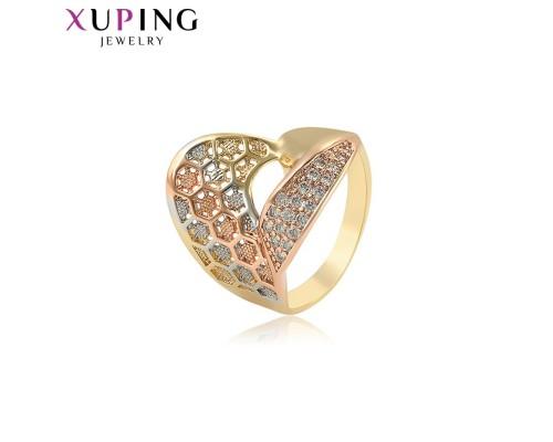 Оригинальное кольцо с фианитами, родиум и позолота (8249000)