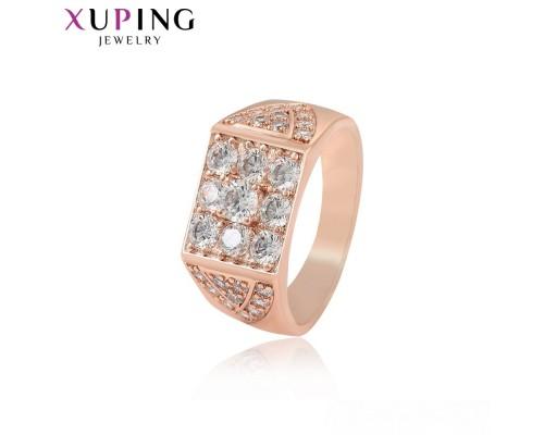 Печатка Xuping с белыми фианитами розовая позолота 9119000