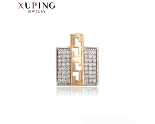 Подвеска Xuping с белыми фианитами родиум и позолота 9935000