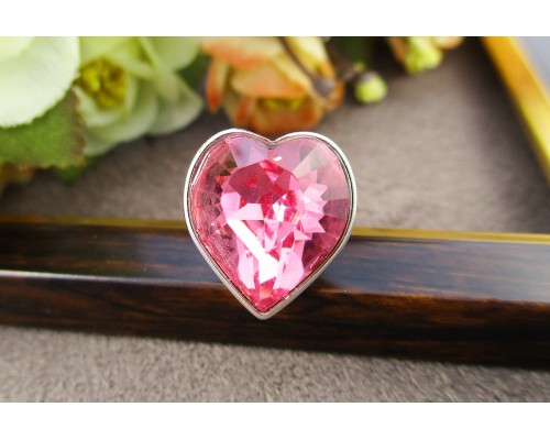 Кольцо Xuping с розовым кристаллом Swarovski родиум 10001104