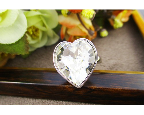 Кольцо Xuping  с белым кристаллом Swarovski родиум 10002764