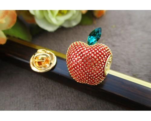 Брошь Xuping с эмалью и разноцветными фианитами позолота 18К 6314000